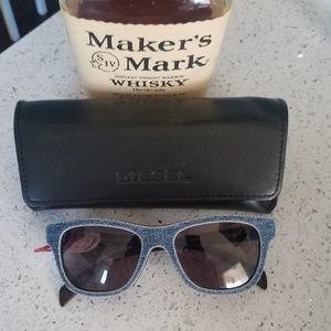a3b56070d1 Diesel Wayfarer Dark Denim Frame Sunglasses
